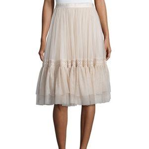 Needle & Thread High-Waist Tulle Skirt Lace Trim 6